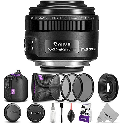 Canon EF-S 35mm f/2.8 Macro is STM Lens w/Essential Photo Bundle – Includes: Altura Photo UV-CPL-ND4, Camera Cleaning Set
