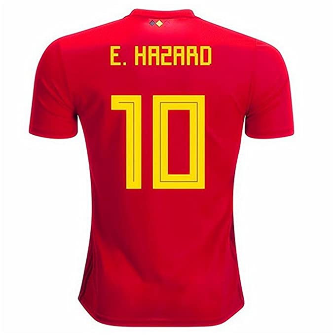 7e21e8e01 Image Unavailable. Image not available for. Color   10 Hazard Soccer Jersey  Belgium National Team Mens Home ...