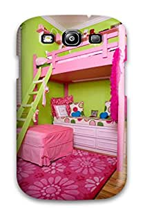 Galaxy S3 Case Slim [ultra Fit] Fluorescent Pink And Green Children8217s Room With Loft Bed Protective Case Cover