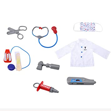Le Sheng Children Doctor Dress Up Surgeon Costume Role Play Set with Accessories DIY, Educational Early Learning Good for Creativity and Intellectual Development