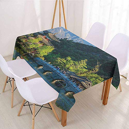 ScottDecor Wrinkle Free Tablecloths Printed Tablecloth W 60