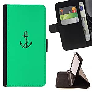 Mar verde vibrante Marinero Barco- Modelo colorido cuero de la carpeta del tirón del caso cubierta piel Holster Funda protecció Para HTC One M7