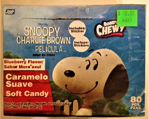 Peanuts Mexico Exclusive Bondy Fiesta Box of Gum With Stickers