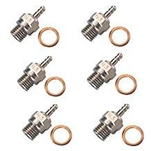 HobbyPark 70117H Hot Glow Plug N3 No. #3 Spark Nitro Engine Parts Replace OS For HSP Traxxas Himoto RC Car Truck Buggy (Pack of 6)
