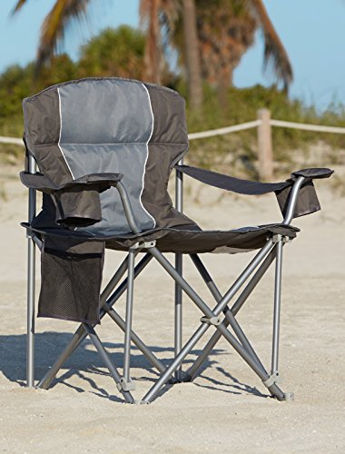500-lb. Capacity Heavy-Duty Portable Chair (Charcoal)