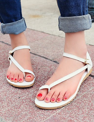 ShangYi Women's Shoes Heel Toe Ring Sandals Outdoor / Dress / Casual Pink / White