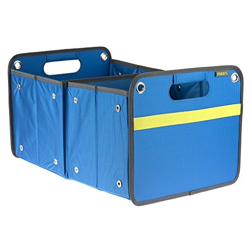 meori Outdoor Foldable Storage Box, Weatherproof and Adjustable (15 Liter / 4 Gallon or 30 Liter / 8 Gallon), in Mediterranean Blue to Organize and Carry Up to 65lbs