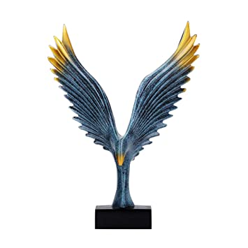 MS Crafts Eagle Decoration Creative Jewelry Office Wine Cabinet Desktop  Living Room Small Decoration Opening