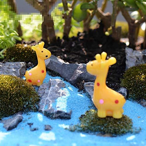 Garden Mini - Mini 6pcs Deer Mother And Son Decoration Moss Micro Landscape Deco Garden Creative Handicrafts - Figurines Friend Necklaces American Floor Back Swim Charm Photo Sets Respe ()