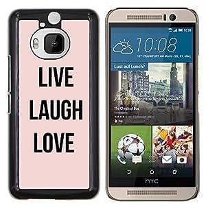 EJOOY---Cubierta de la caja de protección para la piel dura ** HTC One M9Plus M9+ M9 Plus ** --live laugh texto amor melocotón motivación