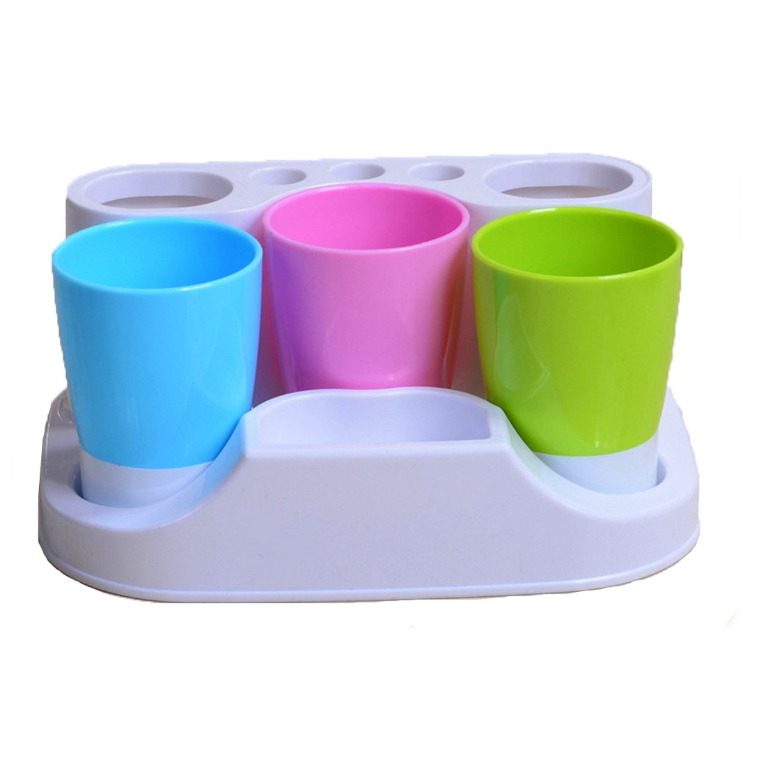 Plastic Bathroom Toothbrush Holders Toothpaste Stand Holders Storage Rack Box Set (3 Stands Toothbrush holder)
