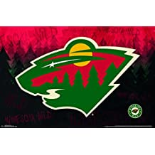 "Trends International Minnesota Wild Logo Wall Poster 22.375"" x 34"""