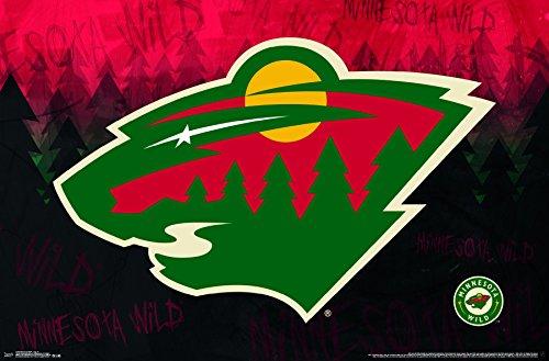 - Trends International Minnesota Wild Logo Wall Poster 22.375