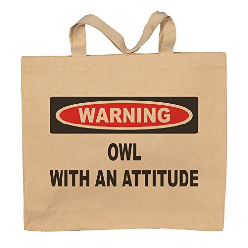 Owl With An Attitude Totebag Bag by T-ShirtFrenzy