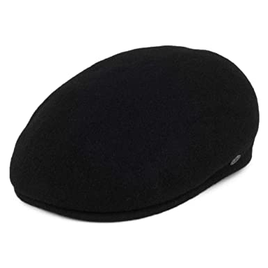 88bff099ec7 Jaxon   James Hats Classic Wool Flat Cap - Black  Amazon.co.uk  Clothing