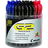 PILOT G2 Premium Gel Roller Pen, Retractable and Refillable, 72 Piece Tub, Assorted Colors, Fine Point (5609)