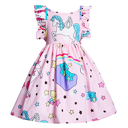 JiaDuo Girls Unicorn Dress Baby Clothes Princess Costume Outfit