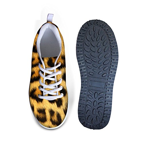 Bigcardesigns Cool High Platform Womens Toning Fitness Walking Shoes Leopard 2