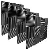 """Mybecca 2"""" X 12"""" X 12"""" Acoustic Panels Studio Foam Wedges, 48 Pack"""