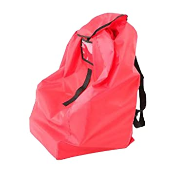 a691a3c5c1e3 Amazon.com  Prettyia Gate Check Double Car Seat Travel Bag Comfortable  Padded Backpack Shoulder Straps - Red