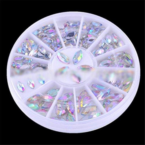 Joyeee 3D Professional Manicure Nail Art Decorations Rhinestone Wheel Set Mix Design Nail Glitter DIY Decor Accessories #1