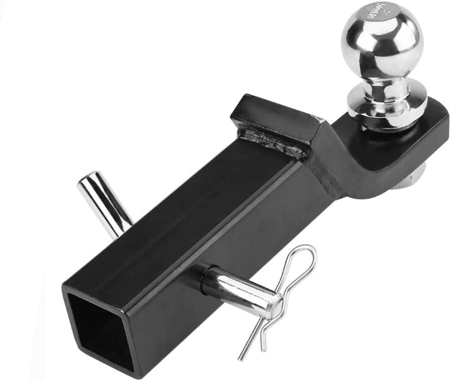 NBJINGYI 2 Trailer Hitch Ball Mount with 2-Inch Trailer Ball /& Hitch Pin Clip 2 Drop Hitch Ball Starter kit