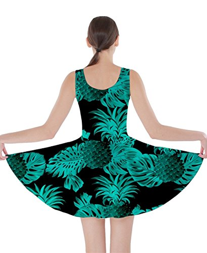 CowCow - Vestido - para mujer Black and Turquoise