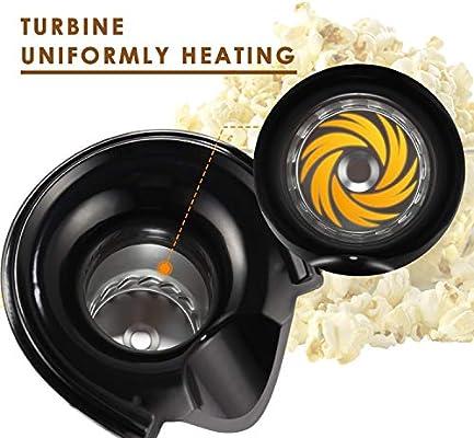Homdox Máquina eléctrica de palomitas de maíz de aire caliente ...