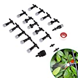 Namivad 15 Pack Sprinkler Spray Nozzles with 10M Hose Micro Spray Cooling Mist Watering for Balcony Garden Irrigation Set