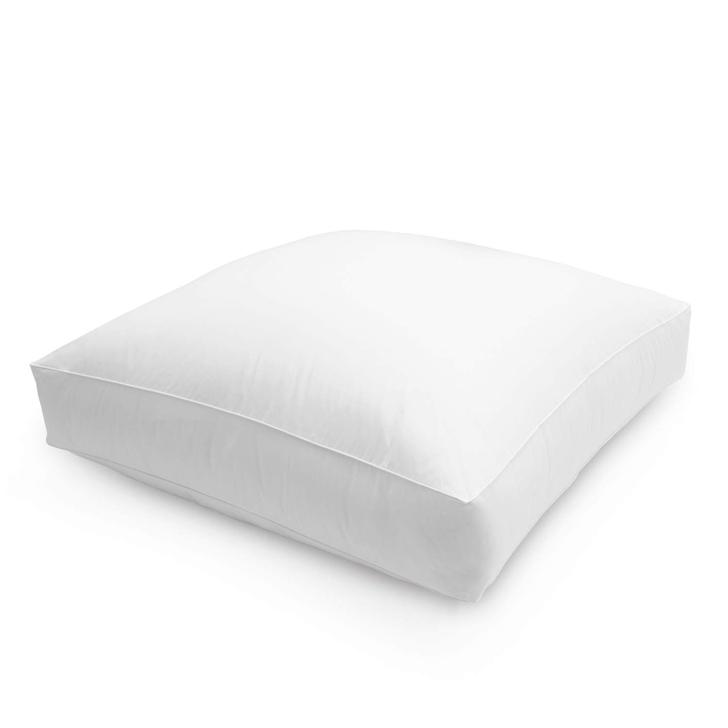 DOWNLITE Extra Large Down and Feather Floor Cushion - 36 Inch Square Dorm Floor Pillow