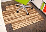 Anji Mountain AMB24063 Strand-Woven Wood Roll-Up Chairmat with lip, 44 x 52-Inch