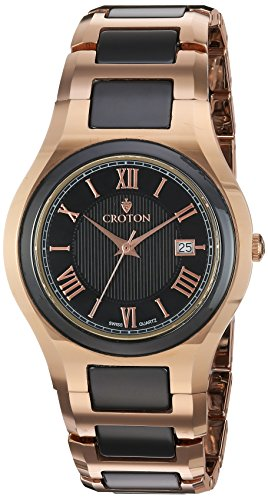 Croton Mens Stainless Steel Watch (CROTON Men's 'Millenium' Quartz Stainless Steel Watch,Multi Color (Model: CN307530RGBK))
