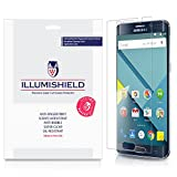 iLLumiShield - Samsung Galaxy S6 Edge+ / Edge Plus Screen Protector Japanese Ultra Clear HD Film with Anti-Bubble and Anti-Fingerprint - High Quality Invisible Shield - Lifetime Warranty - [3-Pack]