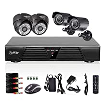 Liview 4CH CCTV Full D1 DVR Motion Detection 800TVL Outdoor Indoor Night Vision Camera System