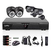 Liview 4CH CCTV Full D1 DVR Motion Detection 800TVL Outdoor Indoor Night Vision Camera System