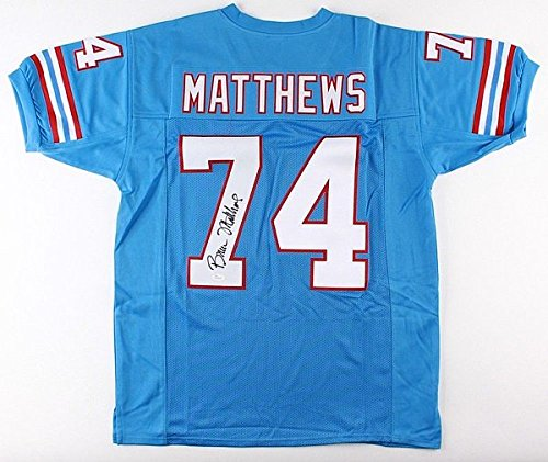 Bruce Matthews Autographed Signed Oilers Jersey JSA Authentic 14 Pro Bowl 1988 2001 OLine Signed Autographed Oilers