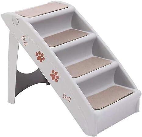 Escaleras para Mascotas Pasos, Arriba y Abajo Gatos de Cama Escalera para Perros Escalera de Plástico para Subir Escalera Plegable Antideslizante para Perros (Color : Gray): Amazon.es: Hogar