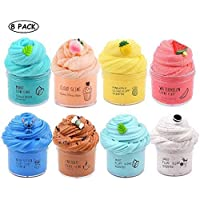 Dorothyworld 8 Pack Scent Slime ( 4Pack Cloud Slime and 4 Pack Butter Slime), Mint Slime,Peach Slime,Pineapple Sime,Watermelon Slime,Stitch Slime,Coffe Slime,Super Soft Toy for Boys and Girls