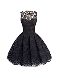 Fashion Evening Party Cocktail Gown Women Sleeveless Lace Pleated Flower Dress