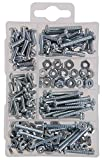 The Hillman Group 591518 36 Pack Small Machine Screws with Nuts Assortment, 195 Pieces / Box