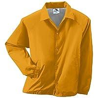 Augusta Sportswear Unisex-Adult Nylon Coach's Chaqueta /Forro, Dorado, Pequeño