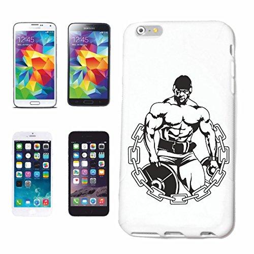 """cas de téléphone iPhone 7+ Plus """"Musculation bodybuilder GYM GYM muskelaufbau SUPPLEMENTS WEIGHTLIFTING BODYBUILDER"""" Hard Case Cover Téléphone Covers Smart Cover pour Apple iPhone en blanc"""
