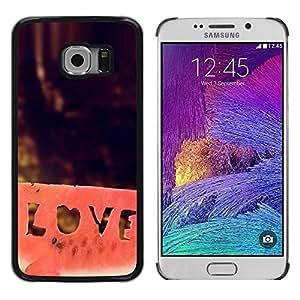 LECELL -- Funda protectora / Cubierta / Piel For Samsung Galaxy S6 EDGE SM-G925 -- LOVE watermelon --