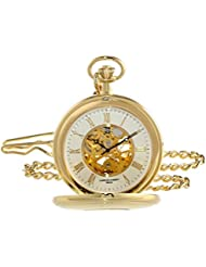 Charles-Hubert, Paris 3953-G Classic Collection Analog Display Mechanical Hand Wind Pocket Watch