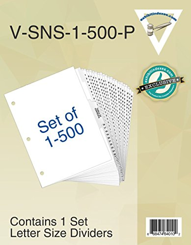 1-500 Punched Binder Tabs by exhibitindexes
