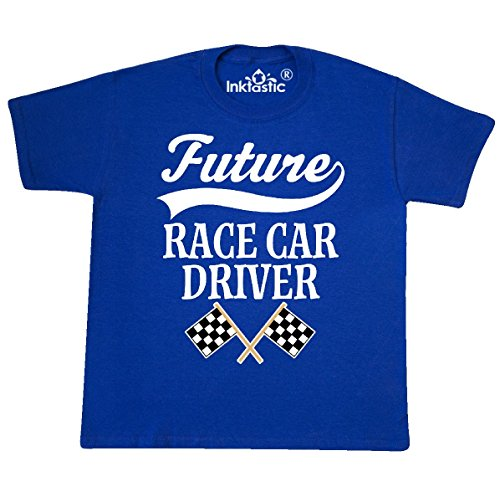Race Car Driver Outfit (Inktastic - Future Race Car Driver Youth T-Shirt Youth Small (6-8) Royal Blue)