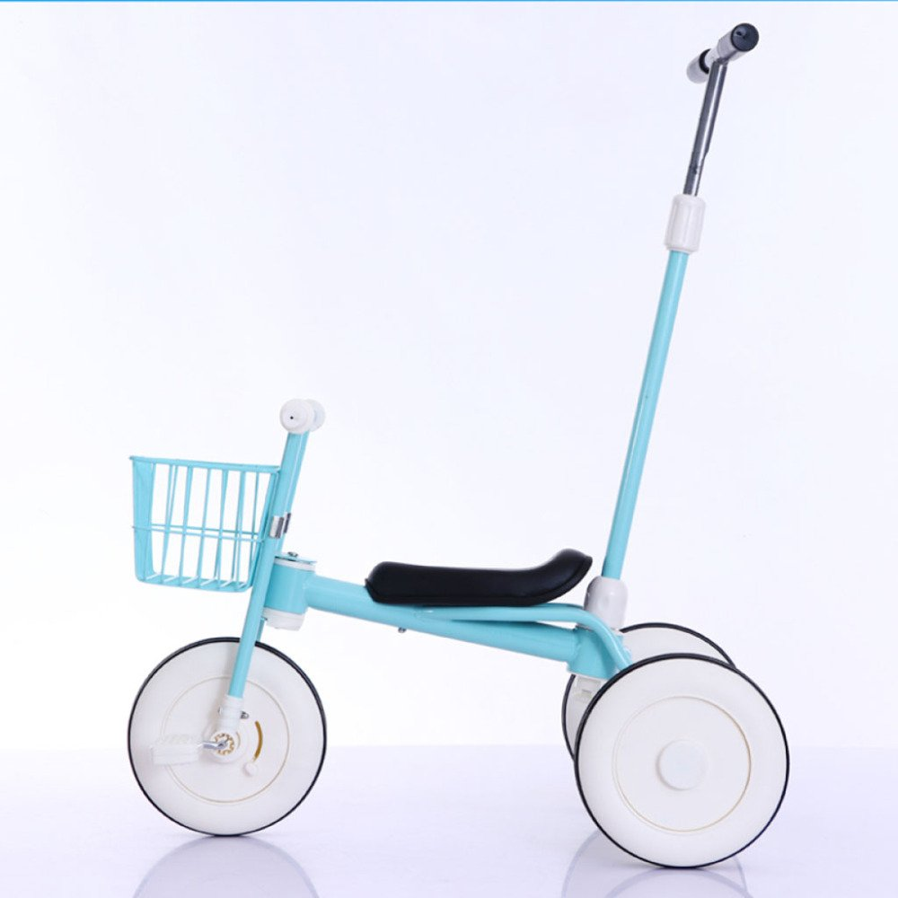 QXMEI Children's Tricycle Kids Bicycle Baby Putter Push Stroller 1-3 Years Old Bicycle,Blue1