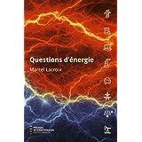 Questions d,énergie