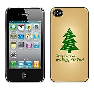 YOYO Slim PC / Aluminium Case Cover Armor Shell Portection //Christmas Holiday Merry Christmas & Happy New Year 1092 //Apple Iphone 4 by icecream design