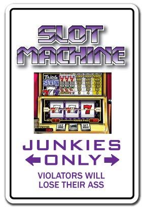 Slot Machine Junkie Decal Jackpot win Wall Plaque